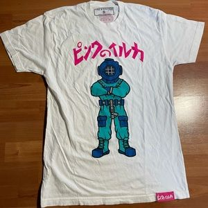 Pink Dolphin Scuba Graphic Tee